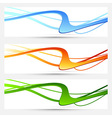 collection cards with bright swooshes vector image vector image