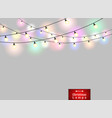 colorful lamps decoration on gradient red vector image vector image
