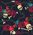 colorful vintage tattoos seamless pattern vector image vector image