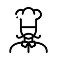 cook silhouette icon outline vector image vector image