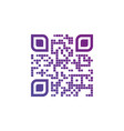 creative qr code icon made out of stars isolated vector image vector image