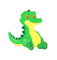 crocodile animal cartoon alligator vector image
