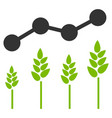 crop analytics flat icon vector image
