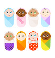 cute babies faces vector image vector image