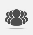 group of people icon flat design with shadow on vector image