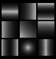 halftone design elements with white dots on black vector image