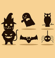 halloween character design silhouette vector image vector image