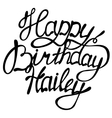 Happy birthday Hailey name lettering vector image vector image
