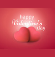 happy valentines day banner realistic 3d hearts vector image vector image