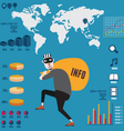 Infographic of info piracy vector image vector image
