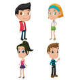 Kids Cute Cartoon Character Set vector image vector image