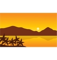 Landscape of beach with mountain vector image vector image