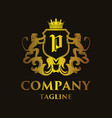 luxury letter p logo vector image