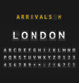 mechanical airport flip board london and set of vector image