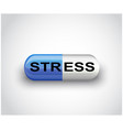 medicine pill capsule for depression and stress vector image vector image