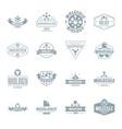 molecule logo icons set simple style vector image vector image