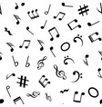 music note seamless background pattern hand vector image vector image