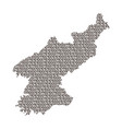 north korea map abstract schematic from black vector image vector image