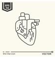 One icon Artificial heart vector image