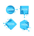 organic natural spring water logo labels and vector image