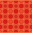 oriental red pattern of mandalas rich vector image