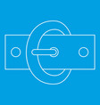oval buckle icon outline style vector image vector image