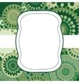 Patterned frame background invitation circular vector image vector image