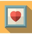 Picture frame with red heart vector image