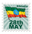 post stamp of national day of Ethiopia vector image vector image