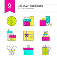 Present Icons vector image vector image