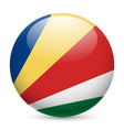 Round glossy icon of seychelles vector image vector image
