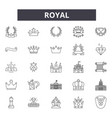royal line icons signs set linear vector image