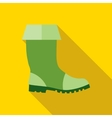 Rubber boots icon flat style vector image vector image