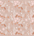 seamless floral pattern in vintage colors vector image vector image