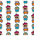 seamless pattern with boy and girl in cartoon vector image vector image