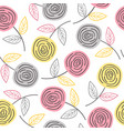 seamless pattern with colorful roses vector image vector image