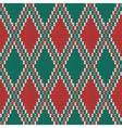 Seamless Rhombus knitting pattern vector image vector image