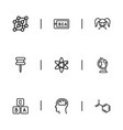 set of 9 editable teach icons line style includes vector image