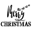 silhouette sleigh santa claus and reindeers vector image vector image