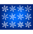 Snowflake white and blue winter set vector image vector image