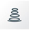 spa stones icon line symbol premium quality vector image