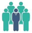 Staff icon from Business Bicolor Set vector image