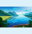 sunny day summertime beautiful natural landscape vector image vector image