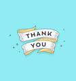 thank you old school vintage ribbon vector image
