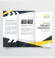 tri-fold brochure design template in modern vector image