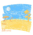 tropical beach with beach umbrellas and palms vector image vector image