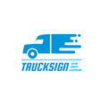 truck sign - business logo template vector image vector image