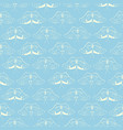 turquoise pattern with white butterfly vector image vector image