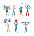 uruguay football fans cheerful soccer vector image vector image