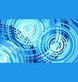 waves from the rain water drop flat vector image vector image